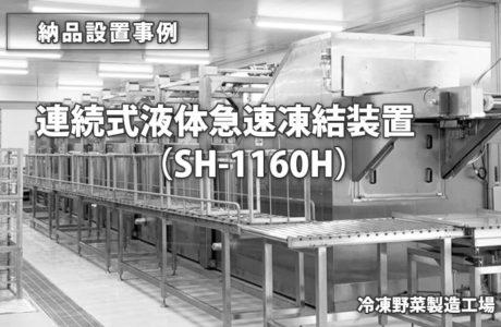 ゴンドラ連続式液体凍結装置 SF-1160H(納品事例)
