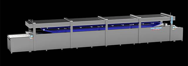 自動処理・ライン化に最適な超急速凍結装置